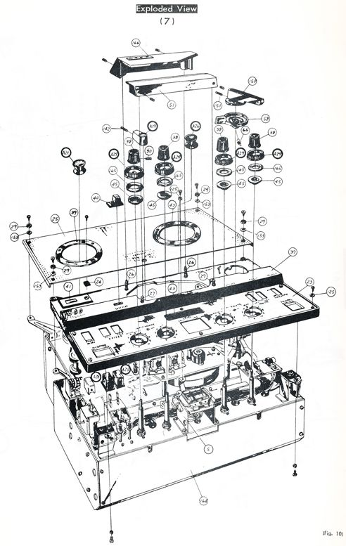 1964 Sony 600 reel tape recorder service manual page in