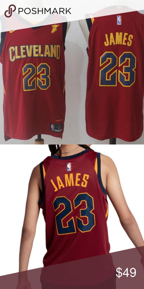 newest d1724 c605e Nike NBA Cleveland Cavaliers 23 Lebron Jams Jersey Excellent ...