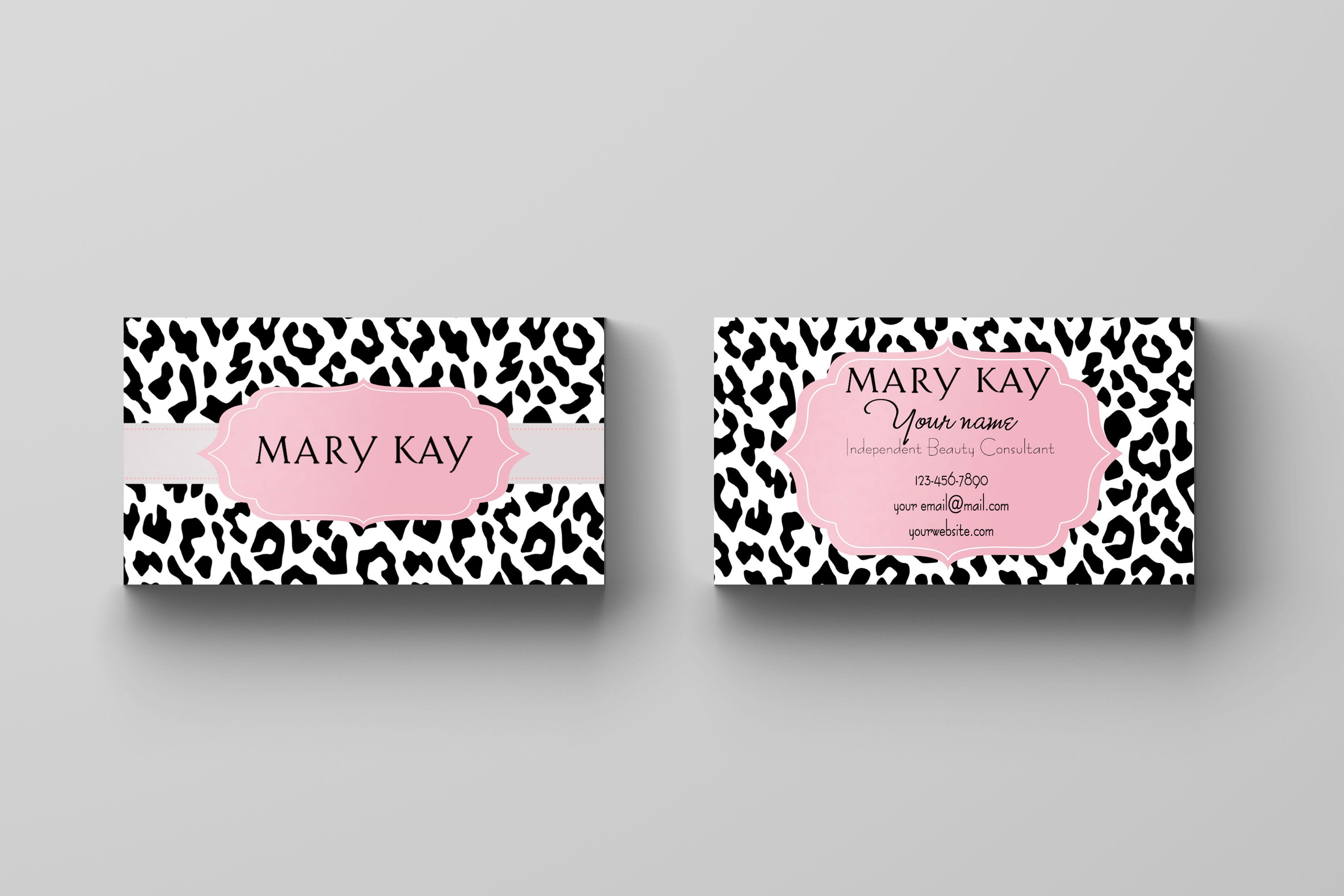 Mary Kay Business Card - Animal Print   Mary Kay   Pinterest   Mary kay