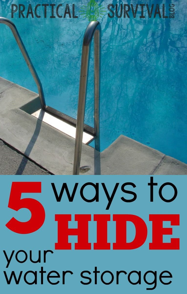 5 Ways to Hide your Emergency Water Storage. Some good ideas that I wouldnu0027  sc 1 st  Pinterest & 5 Ways to Hide your Emergency Water Storage. Some good ideas that I ...