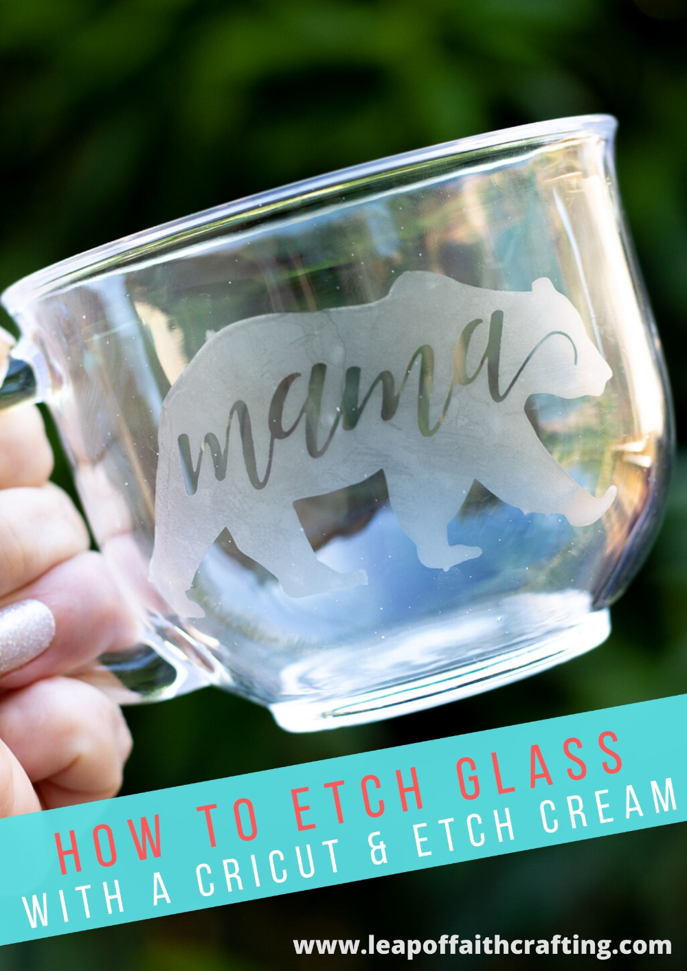 Cricut Glass Etching How To Easily Etch Glass With Armour Etch Leap Of Faith Crafting In 2020 Glass Etching Projects Glass Etching Diy Vinyl On Glass