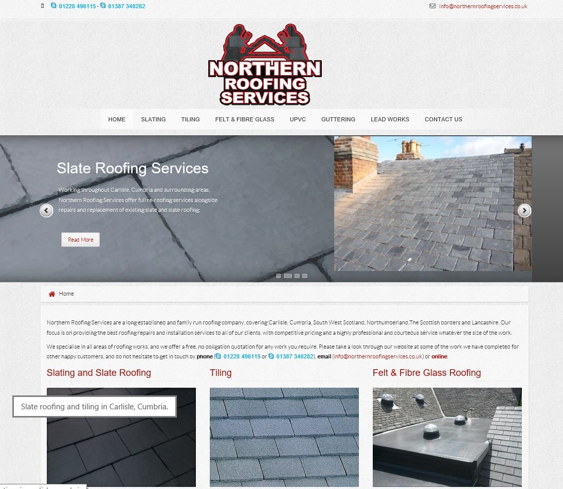 Good A Fully Responsive Website Design For Northern Roofing Services Of Carlisle    Www.northernroofingservices.