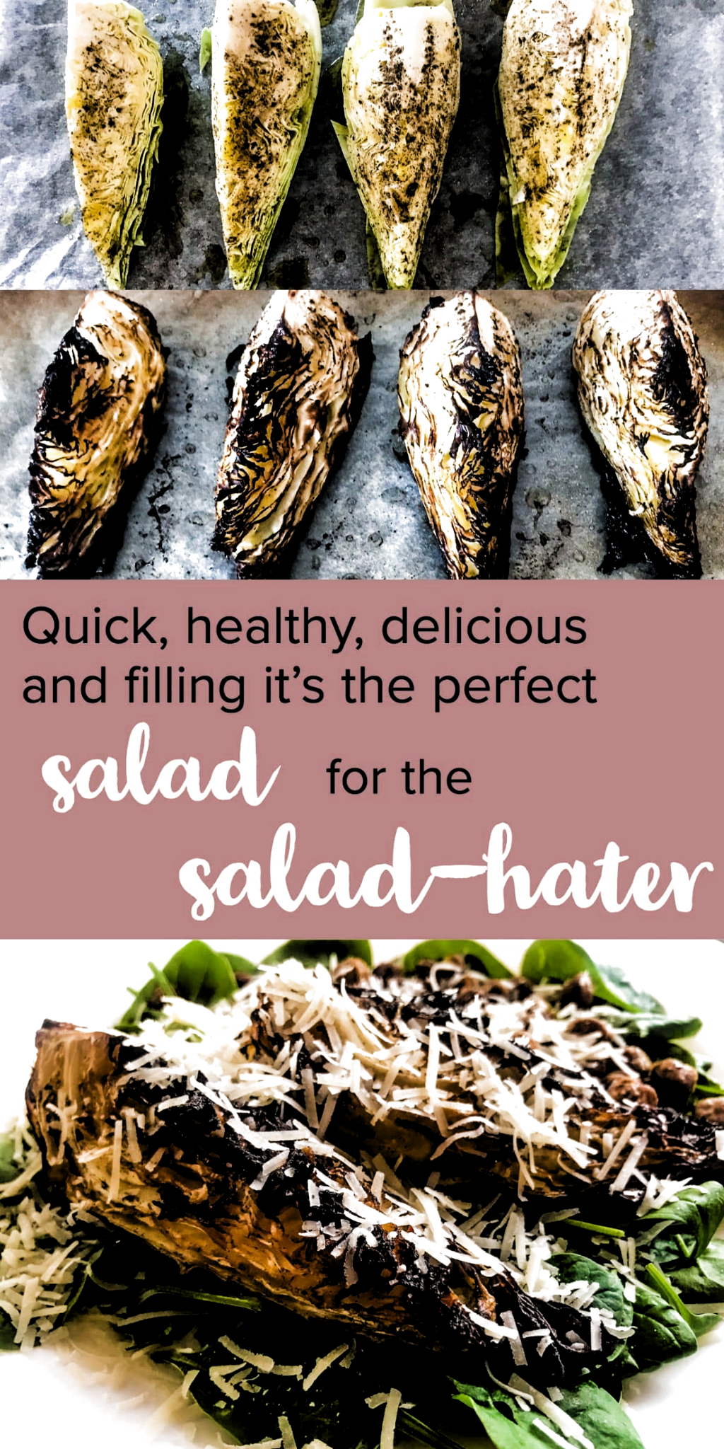 Simple, healthy, quick and delicious - this Pointed Cabbage Salad with Gyoza Chickpeas is sure to leave you full and hella satisfied, all while being filled with healthy goodness. Oh, and its perfect to make ahead for lunch or dinner as well! #alwaysusebutter #fillingsalad #saladrecipes #salad #healthyrecipes #healthy #gyoza #chickpeas #recipes