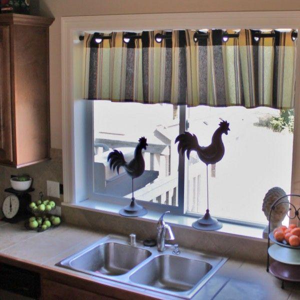 Küchengardinen Flächenvorhänge Gemustert Küchenfenster Sonnenschutz