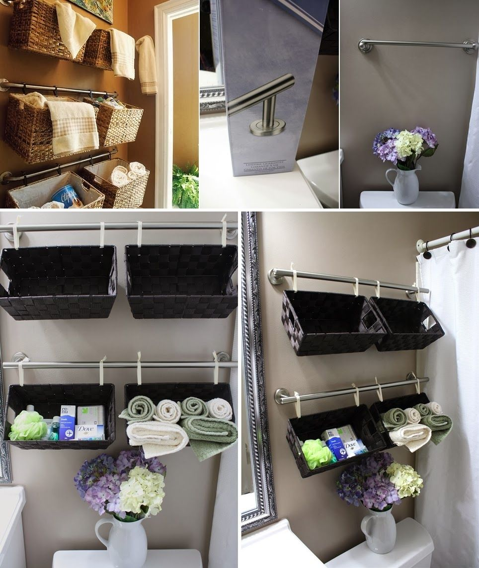 Diy bathroom storage ideas - Diy Projects Diy Wall Full Of Baskets Bathroom Storage Idea