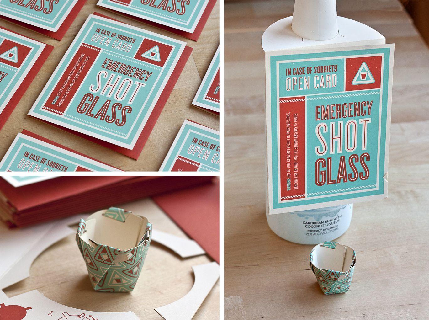 The Emergency Shot Glass Card |Fifty Five Hi's