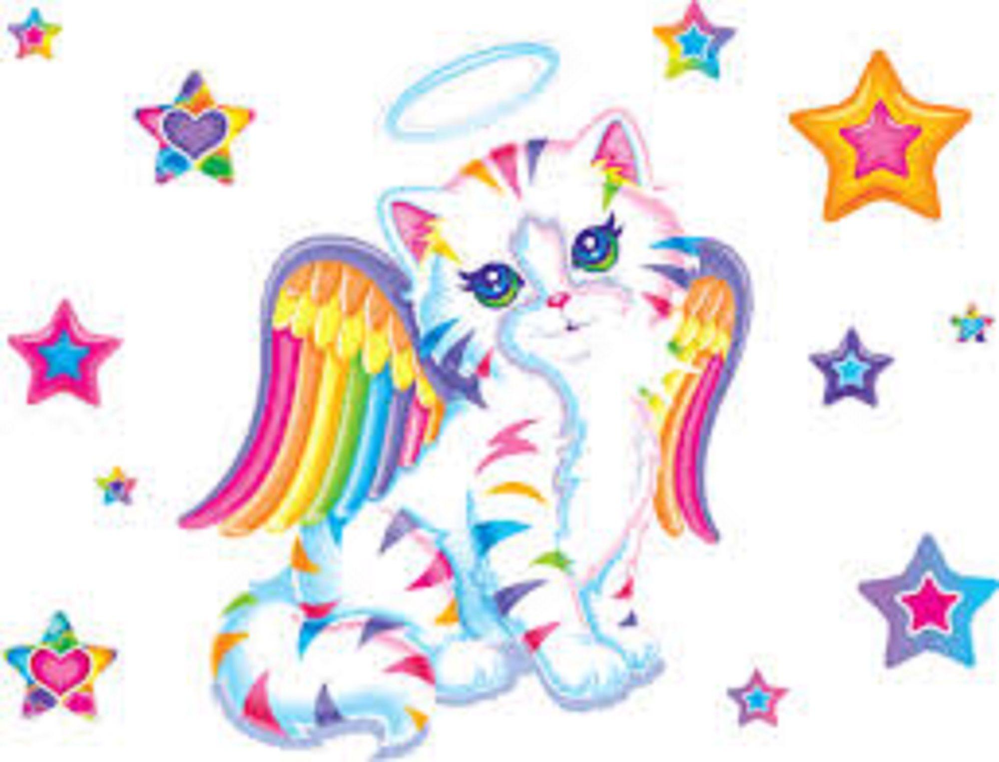 Kitten Angel printed on children's apparel, T shirt