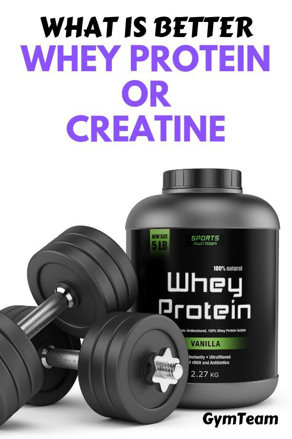 Creatine or Whey Protein? Which is better for building muscle | In this post we explain which of the...