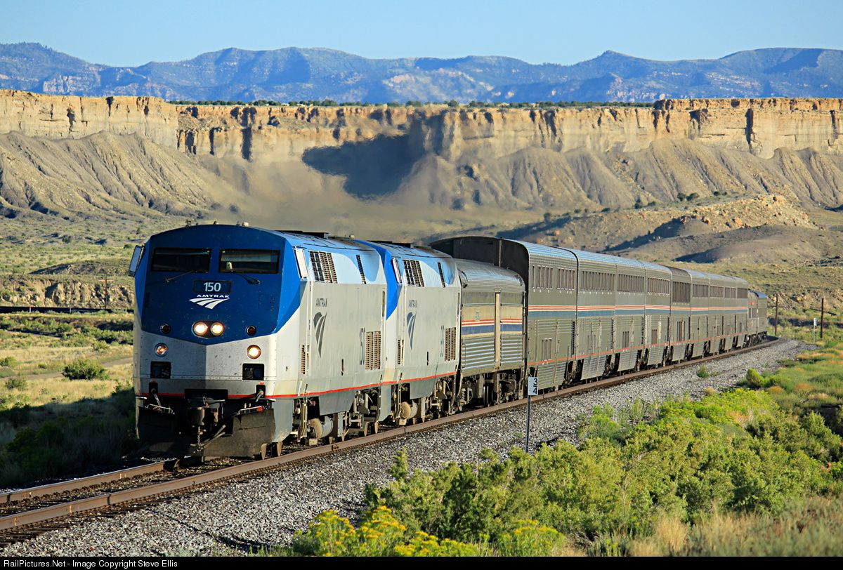 RailPictures.Net Photo: AMTK 150 Amtrak GE P42DC at Mounds, Utah by Steve Ellis