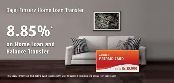 Assured Prepaid Card With Bajajfinserv Homeloan Home Loans Loan Application Prepaid Card