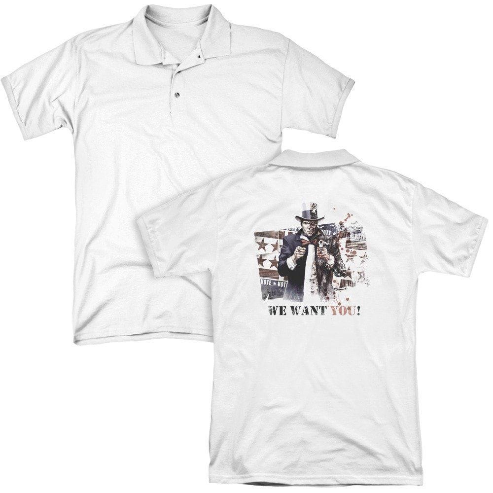 Arkham City We Want You Adult Polo Shirt