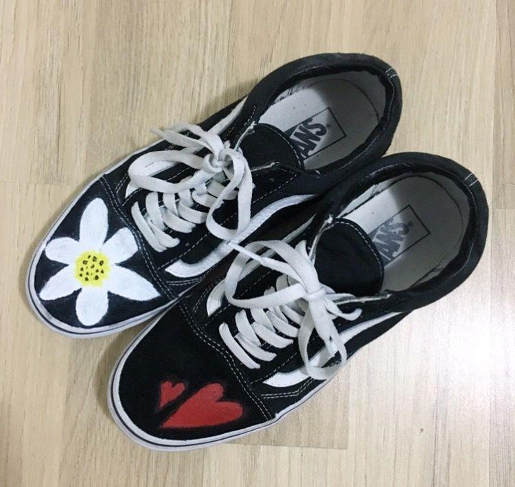 Custom Vans inspired by G-Dragon. Custom VansNike SneakersStreetwearDragon FormalNike Tennis ShoesStreet ...