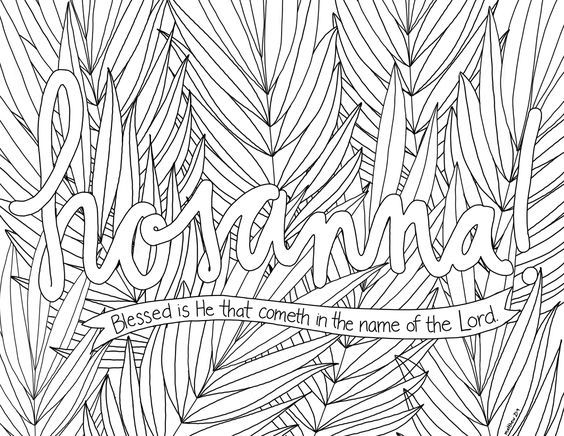 Hosanna Coloring Page 8 Palm Sunday Crafts Coloring Pages