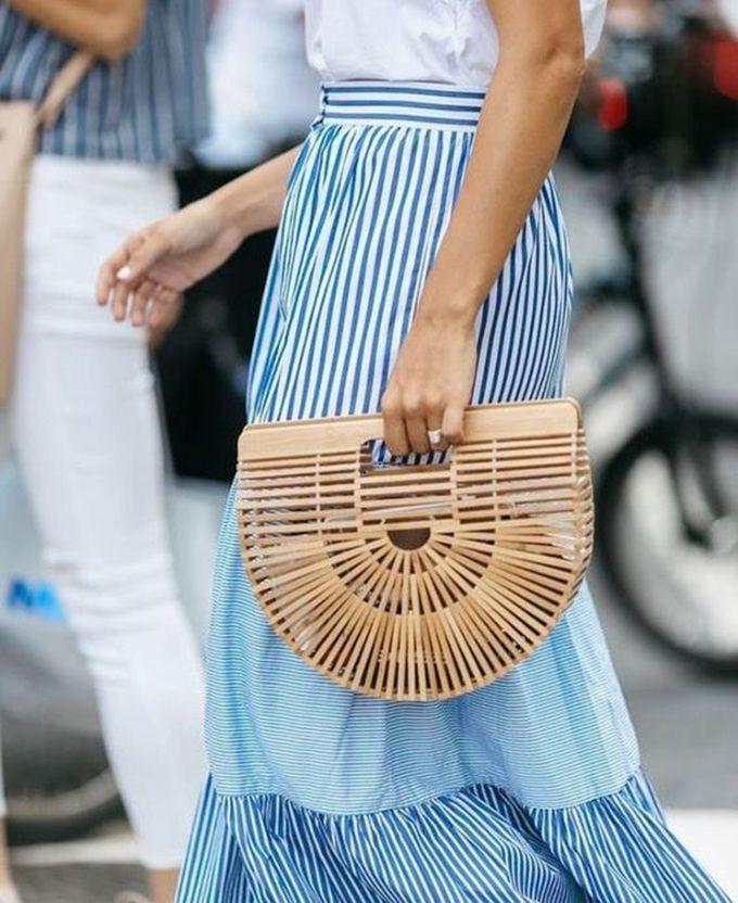 Resultado de imagen de bolso cesta mimbre estilismos