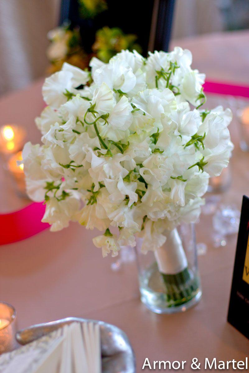 white sweet peas... good little white flower for the bouquet filler ...