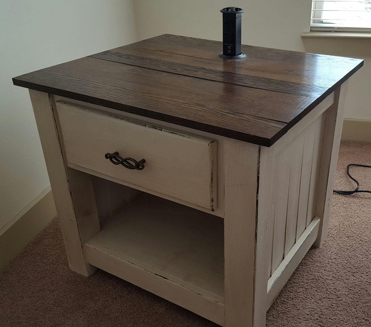 Chunky farmhouse nightstand ana white diy nightstand