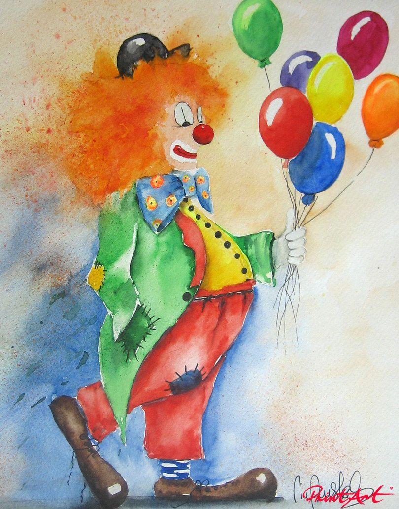 peinture de clowns recherche google art peinture clowns pinterest peinture aquarelles. Black Bedroom Furniture Sets. Home Design Ideas