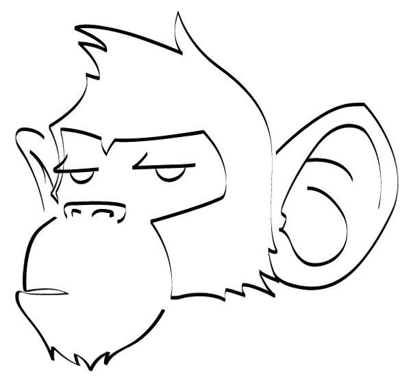 Monkey drawings monkeys on fire