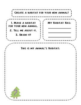 Design Your Own Animal And Habitat Activity Habitat Activities Teaching Themes Teaching Science Elementary