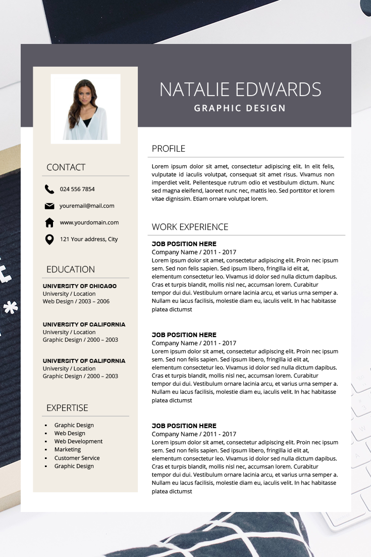 Creative Resume Template CV Template for MS Word and