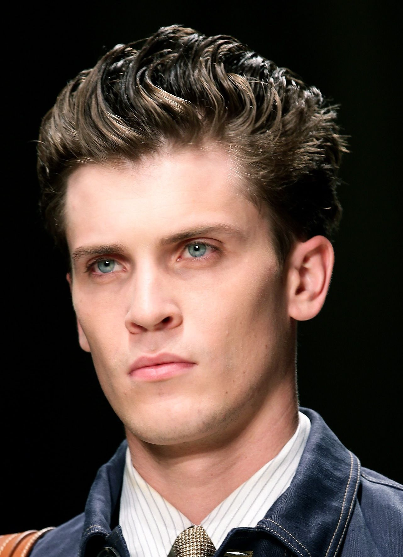 Men's Brushed Back Hairstyle (With images) Thick hair styles