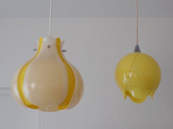 三菱 フラワーランプ 天井照明 昭和レトロポップ花柄70s 画像1 照明