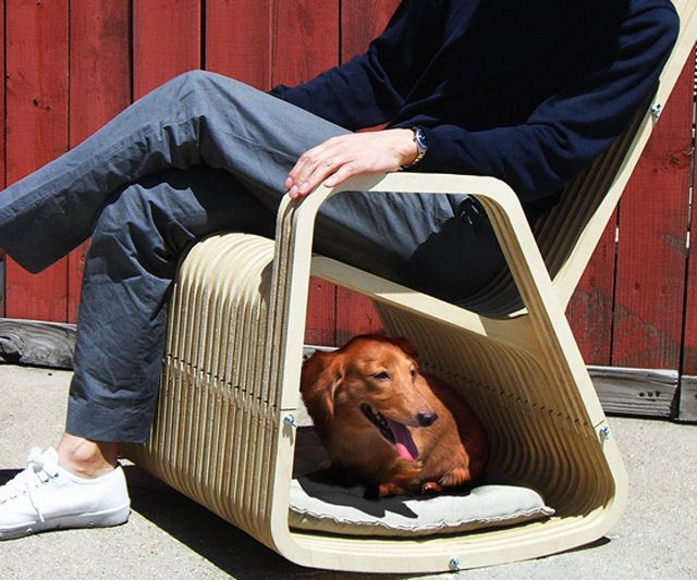 Human & Pet Rocking Chair. I bet Pierre would love this.