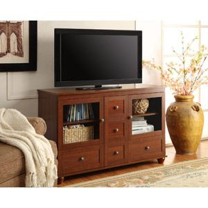 Altra Cherry Tv Stand With Mount For Tvs Up To 52 Back Room Ideas