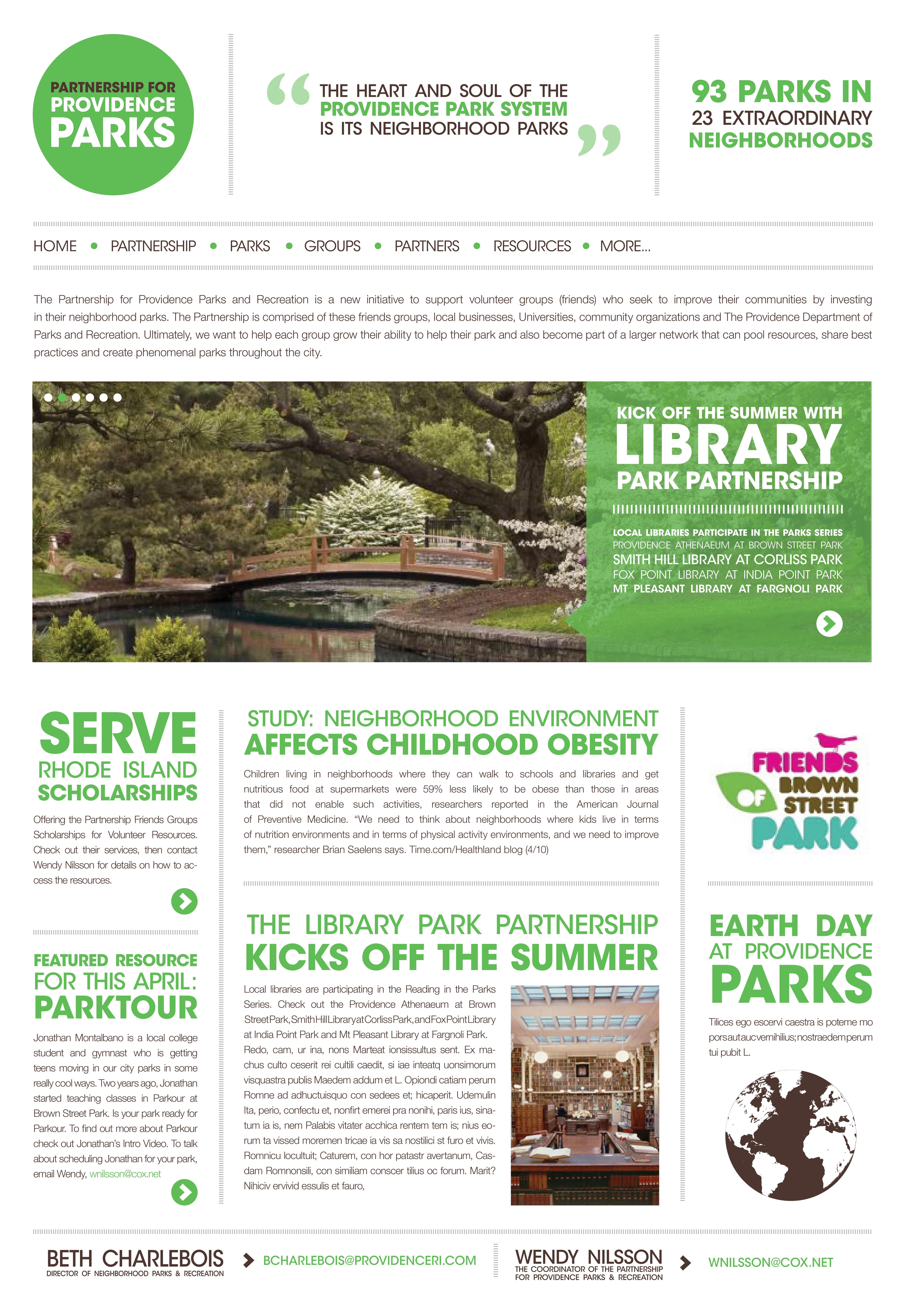 Partnership For Providence Parks Website Design Providence Park Parks Recreation The Neighbourhood