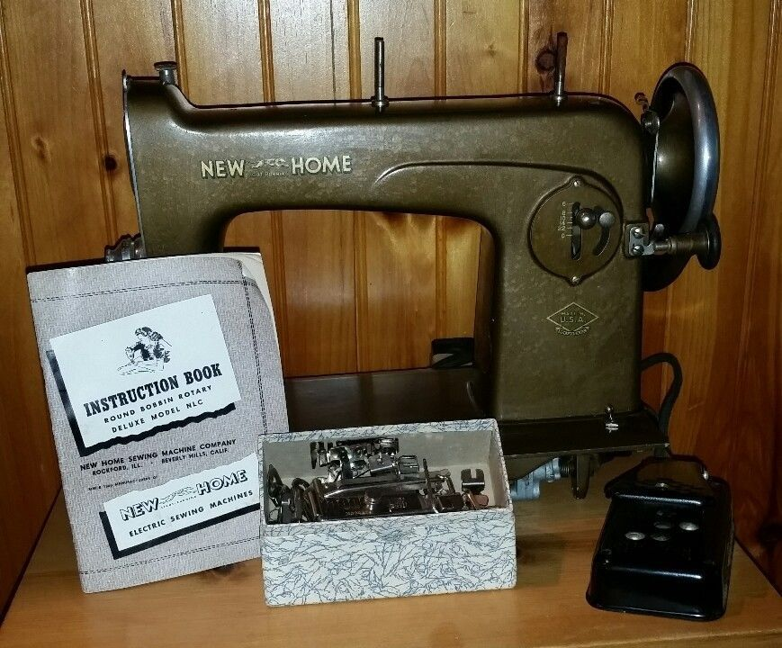 Vtg New Home Light Running Sewing Machine Deluxe Model NLC Foot Stunning New Home Sewing Machine Foot Pedal