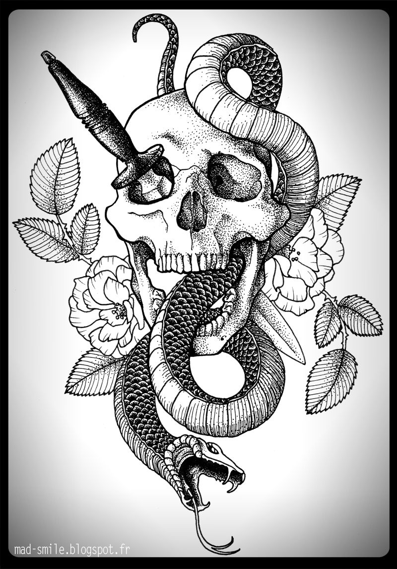 SKULL SNAKE DAGGER Mad Smileblogspotfr Search Label TATTOO