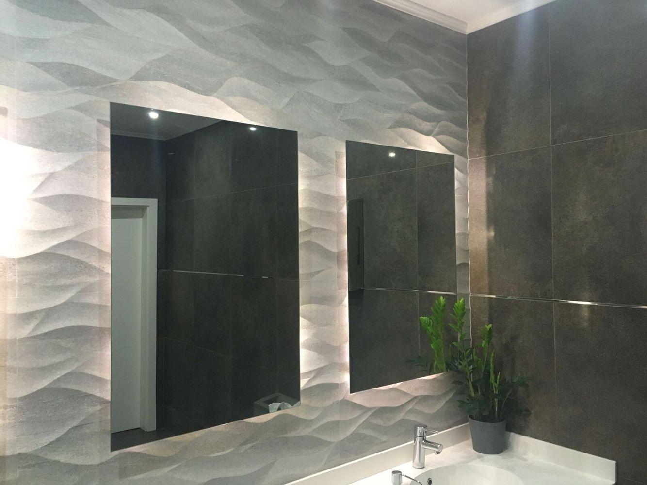 Wandtegels badkamer 3D | Badkamer tegels | Pinterest