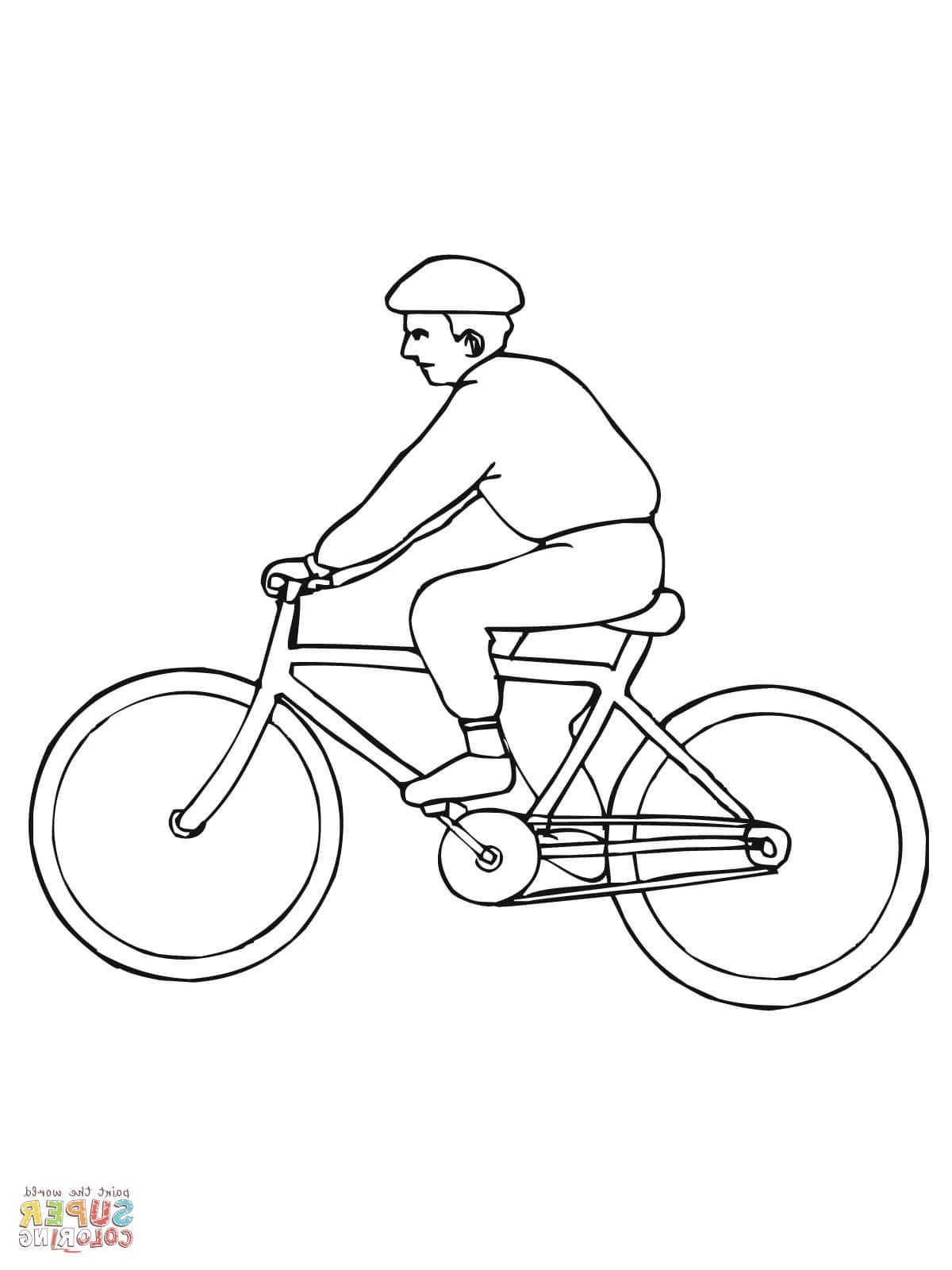Велосипедист картинки карандашом