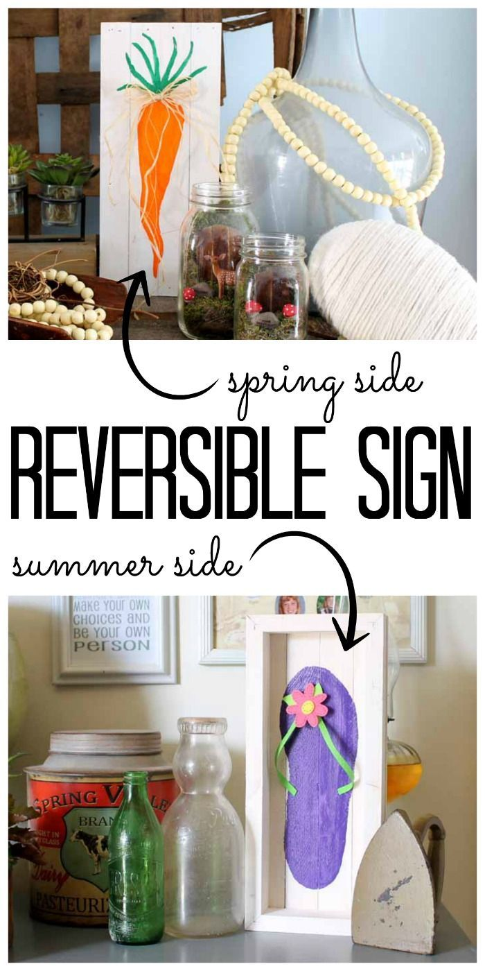 Reversible Sign for Spring and Summer | Craft
