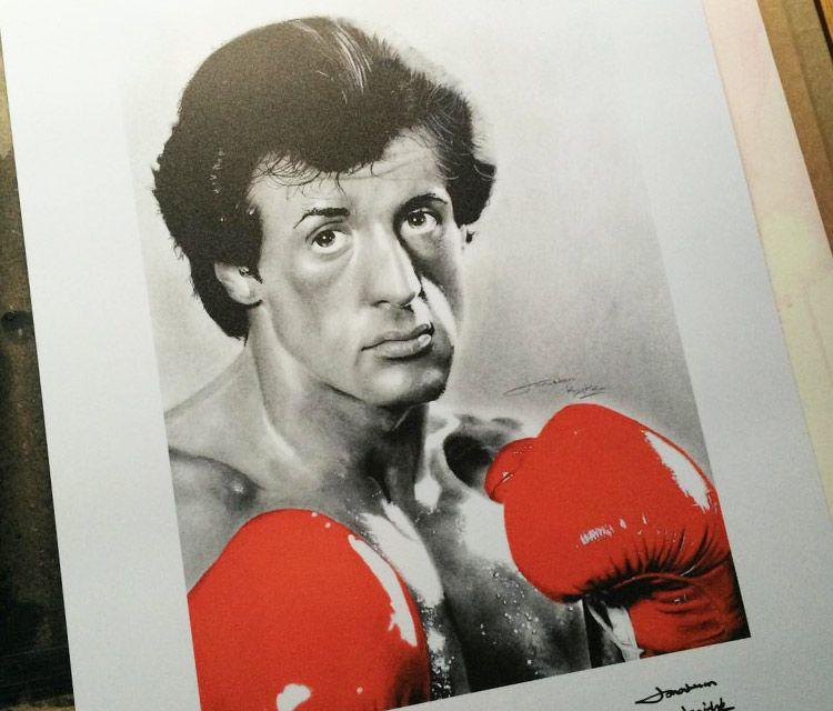 Rocky Balboa Portrait Drawing By Jonathan Knight Art Idee Per