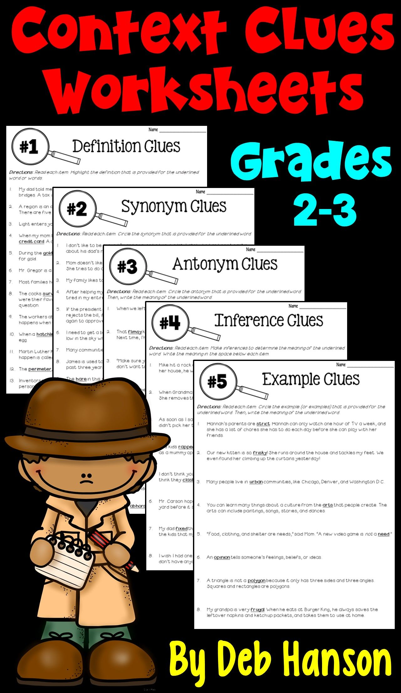 Context Clues Worksheets Focusing On 5 Types Of Clues