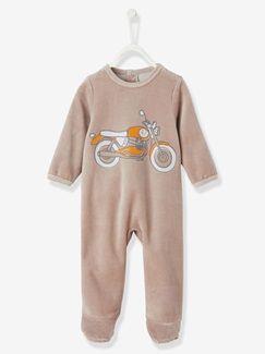 Pijama em veludo, para bebé