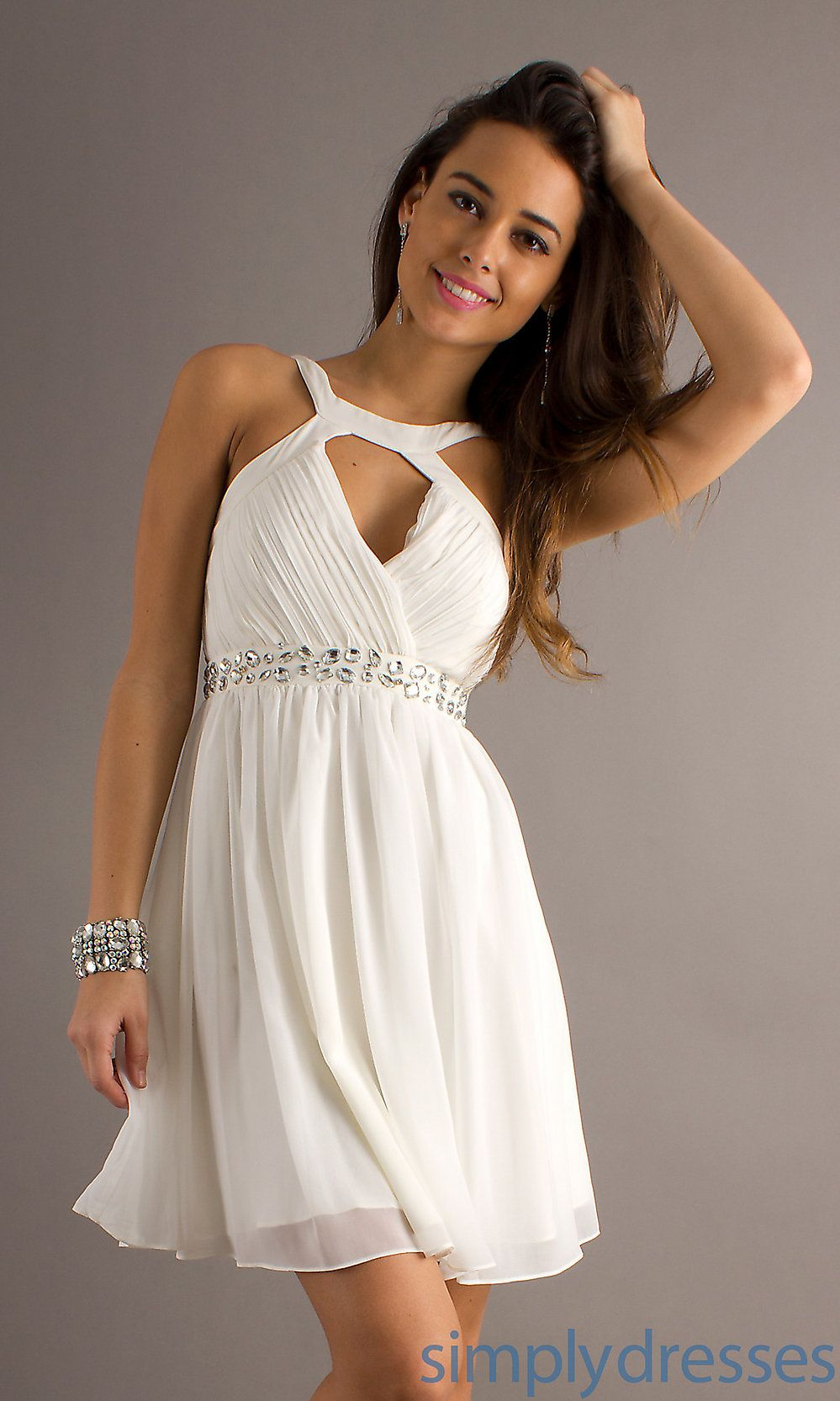 Short white dresses short sleeveless white dress janell wedding