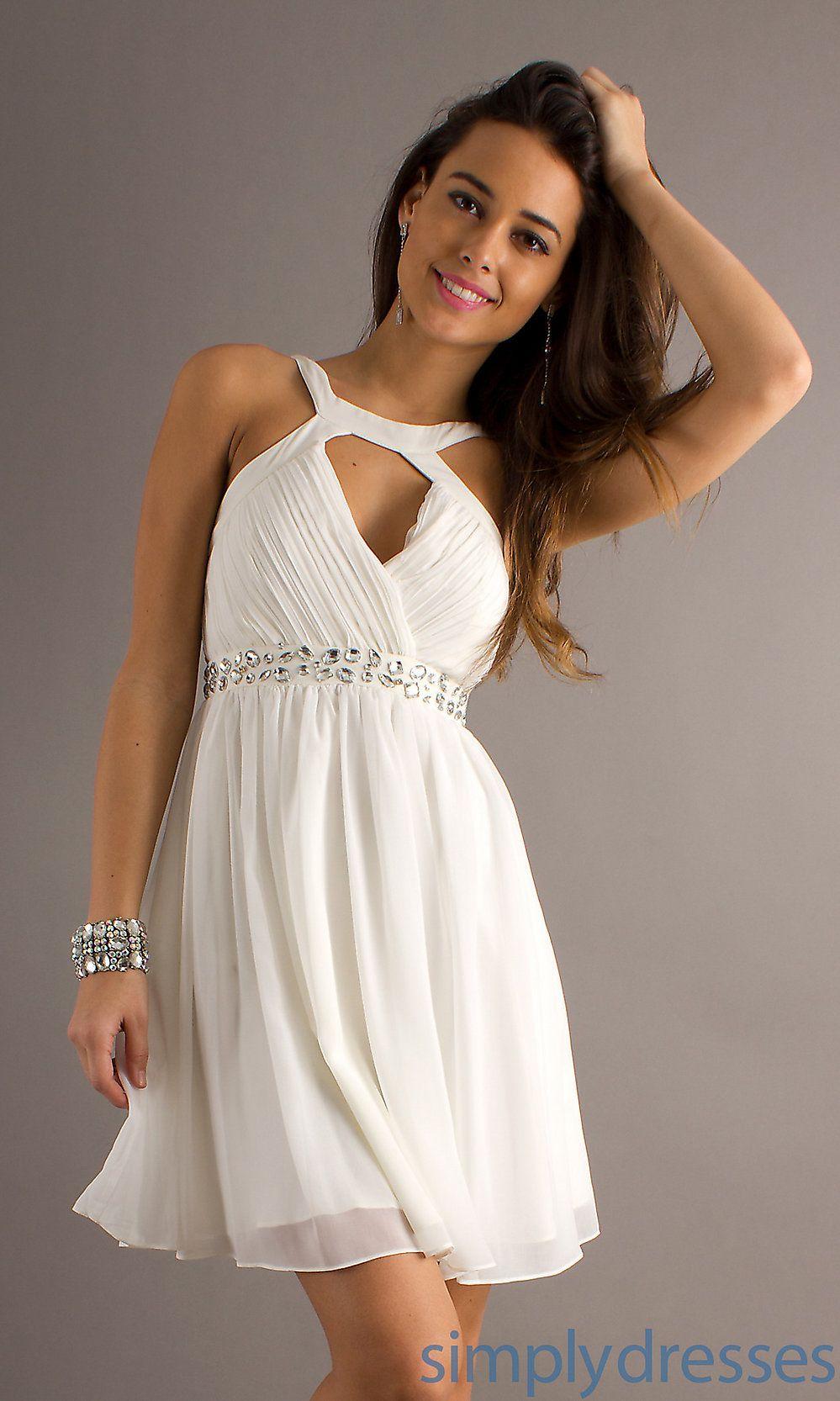 Short white dresses short sleeveless white dress janell wedding