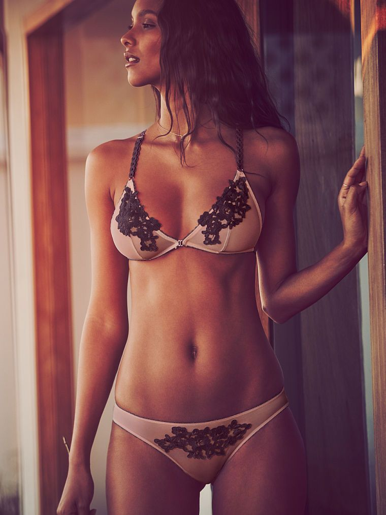 748a9bdea9 This is a cute set! Don t forget the matching paties! Embroidered Bralette  - Dream Angels - Victoria s Secret