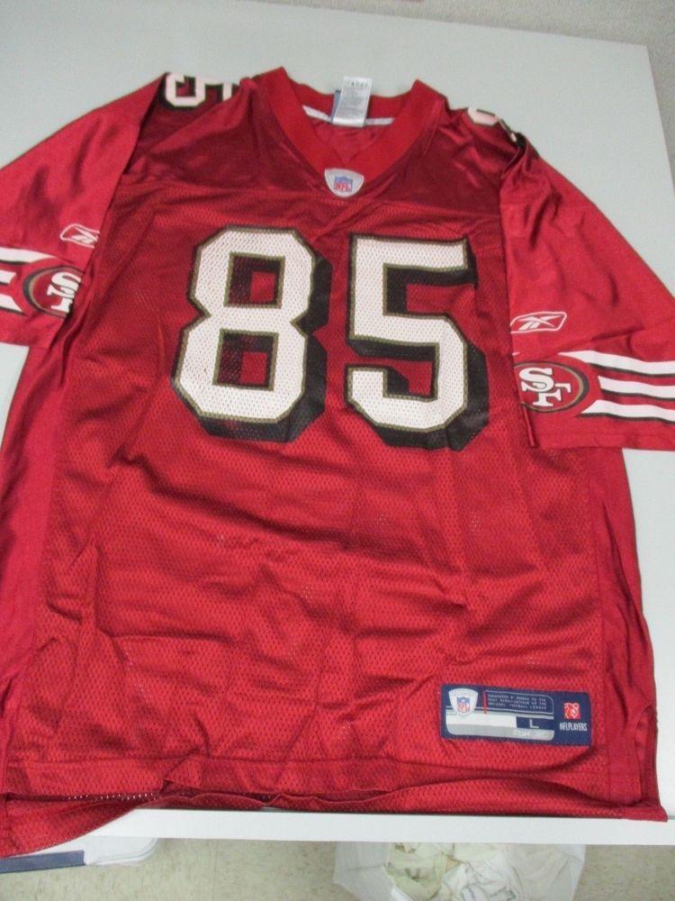 REEBOK NFL EQUIPMENT SAN FRANCISCO 49ERS VERNON DAVIS JERSEY SIZE L  Reebok   SanFrancisco49ers   fde789f03