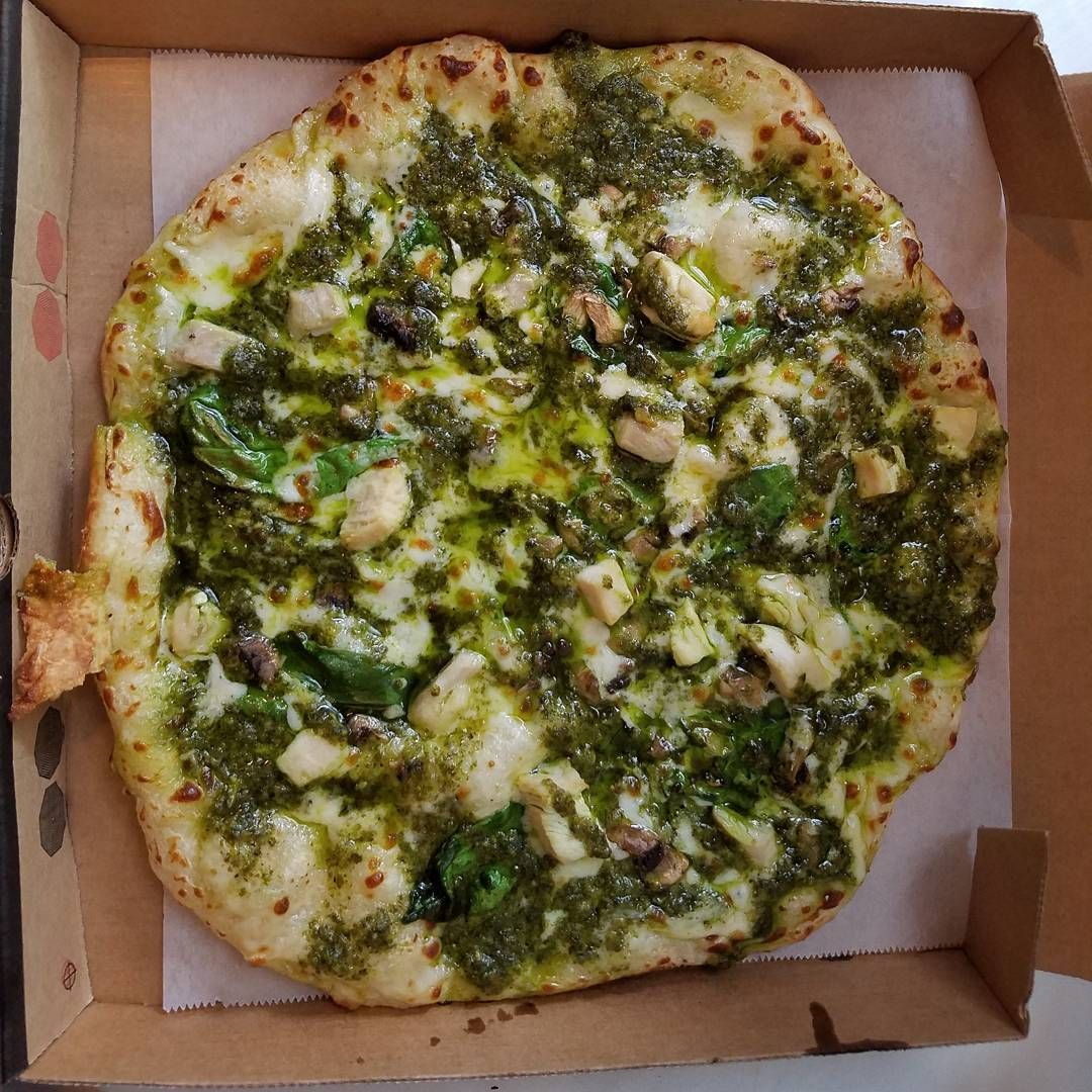 Congratulations to our newest team member, Emily, on making this gorgeous Chicken Pesto Alfredo Vovito Pizza on her very first try!  #seattlepizza #pizzalovers #personalpizza #seattlecafe