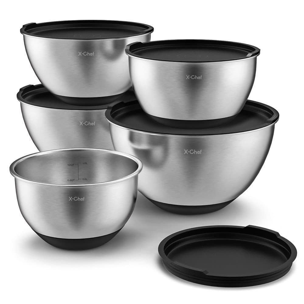 Top 10 Best Stainless Steel Mixing Bowl Sets In 2020 Topreviewproducts Stainless Steel Mixing Bowls Mixing Bowls Mixing Bowls Set