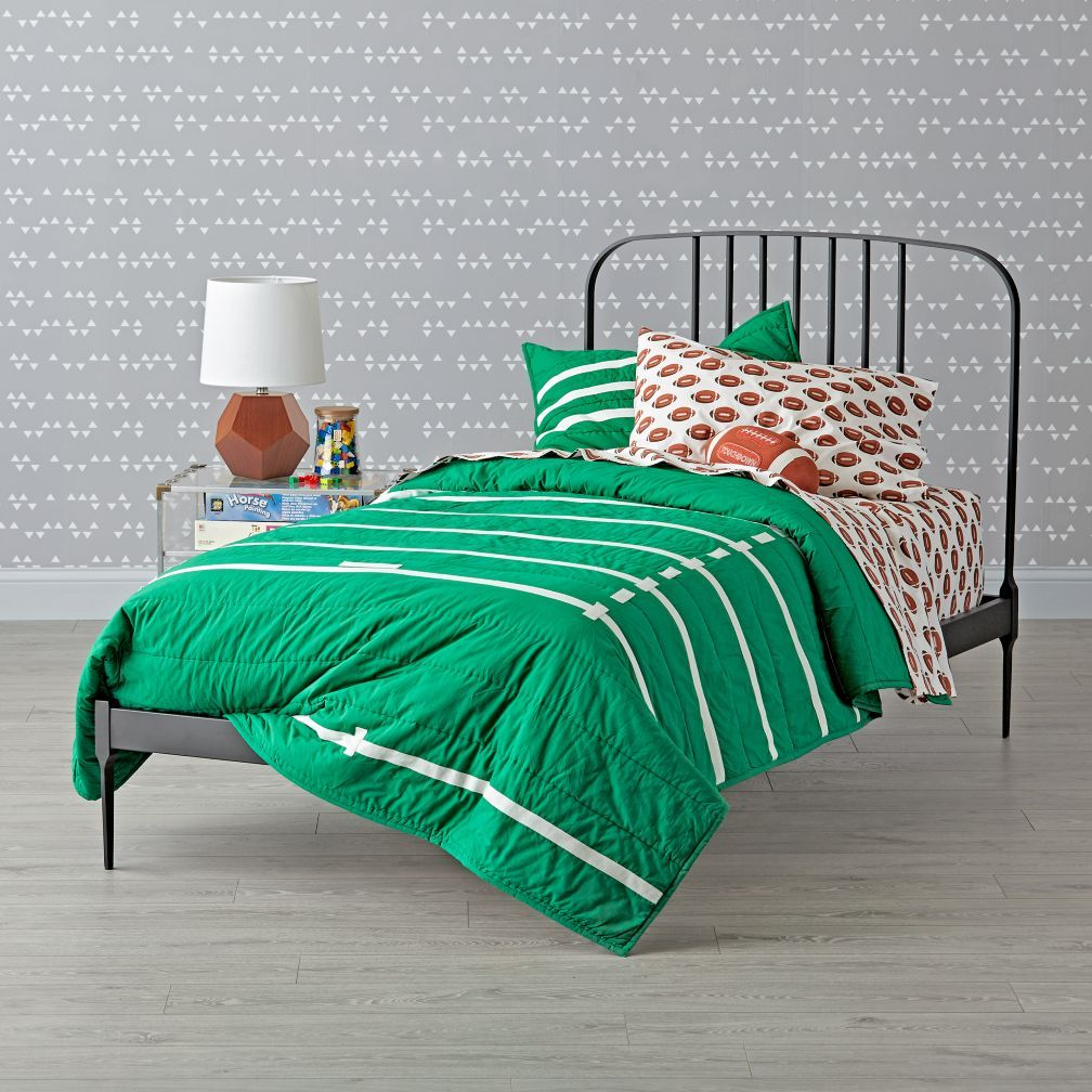 Larkin Graphite Low Footboard Bed The Land of Nod