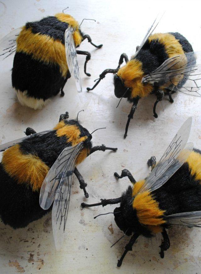 von hand genähte-figuren bienen-stoffreste einsetzen-ideen ...