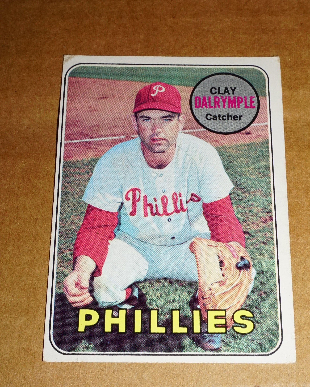 1969 Rare Clay Dalrymple 151 Phillies Baseball Card Huge