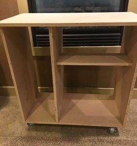 Diy Mini Refrigerator Storage Cabinet Free Plans Refrigerator Storage Mini Fridge Cabinet Apartment Storage