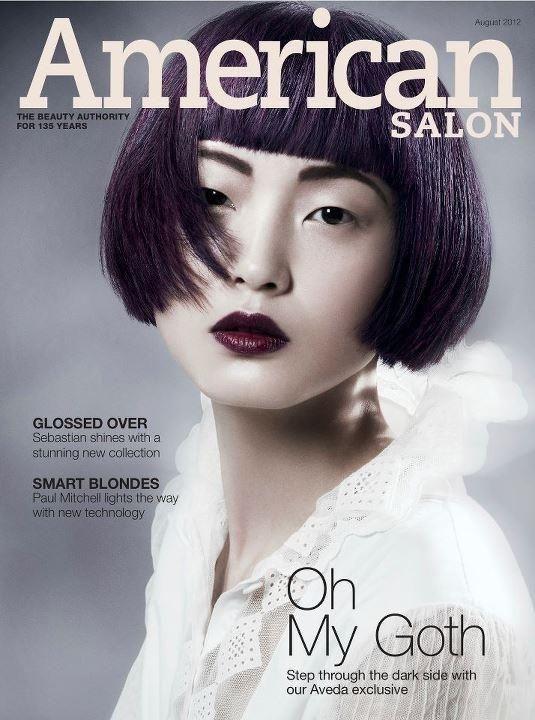 Oh My Goth Aveda On The Cover Of American Salon Magazine Fake Hair Aveda American Salon