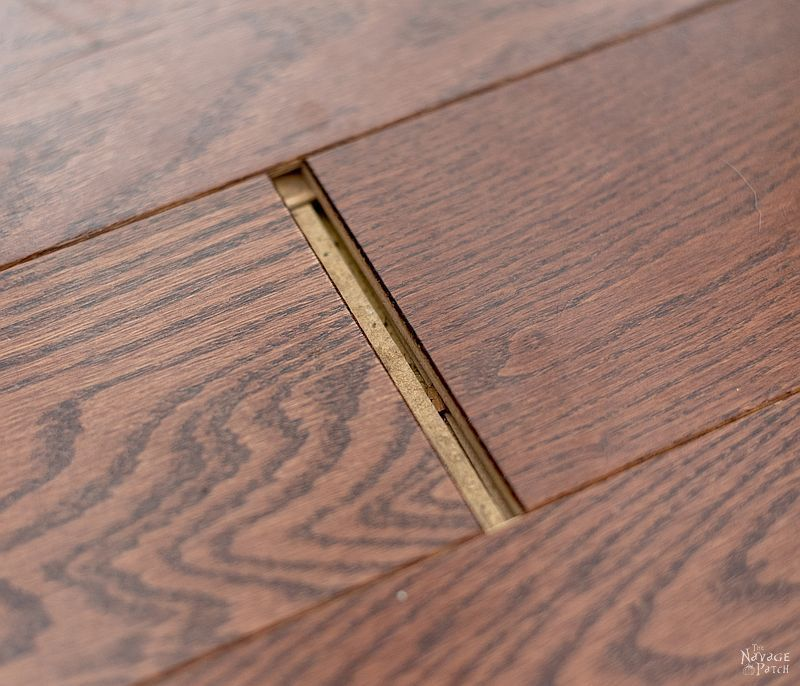 How To Fix Floating Floor Gaps Diy Floor Gap Fixer The Navage Patch Diy Flooring Floating Floor Diy Home Repair