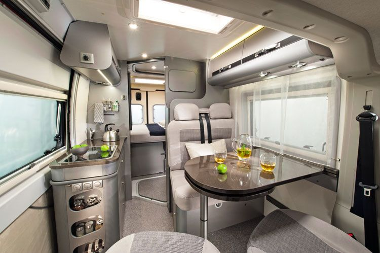 Adria Twin 600 Camper Van Interior Built On A Fiat Ducato Van
